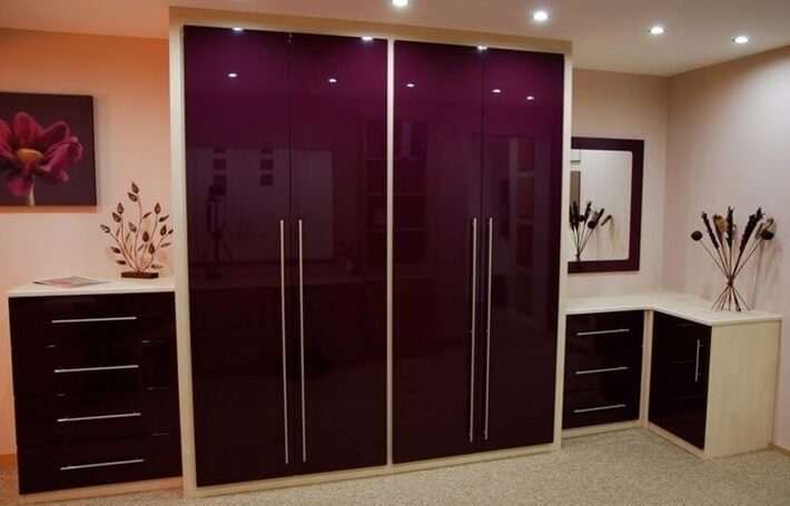 Aubergine Gloss Bedroom
