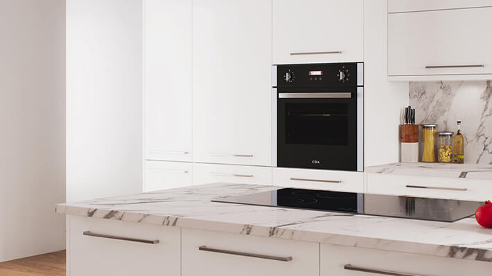 Hameldown White Kitchen Stoke