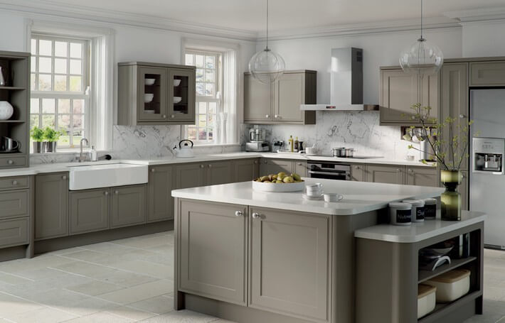 Matt Stone Grey Kitchen