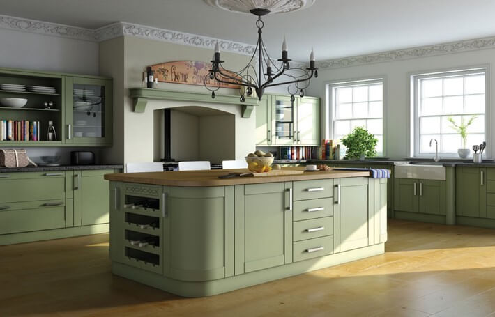 Paintable Vinyl Shaker Kitchen
