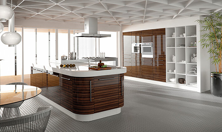 Zurfiz Ultragloss Macassar Kitchen